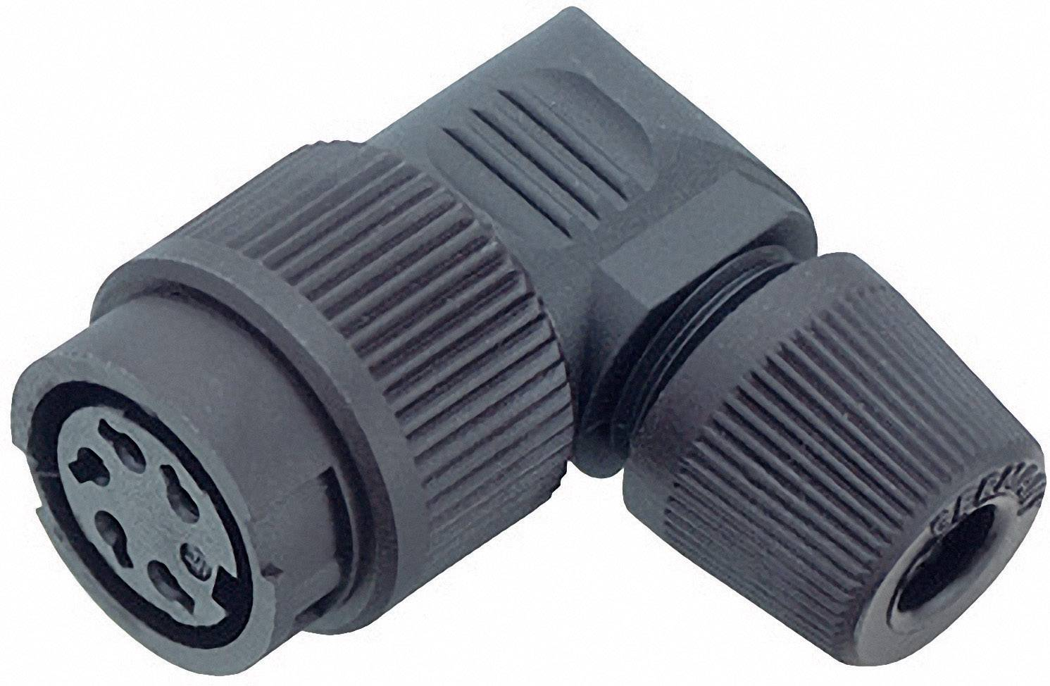 Kabelový konektor Binder 99-0606-70-03, 3pól., 0.75 mm², 4 - 6 mm, IP40, černá