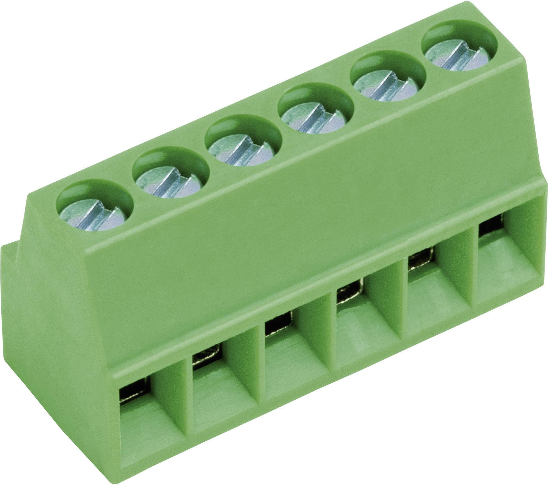 Skrutkovacia svorka PTR AKZ692/5-2.54-V-GRÜN 50692050021E, 0.75 mm², počet pinov 5, zelená, 1 ks