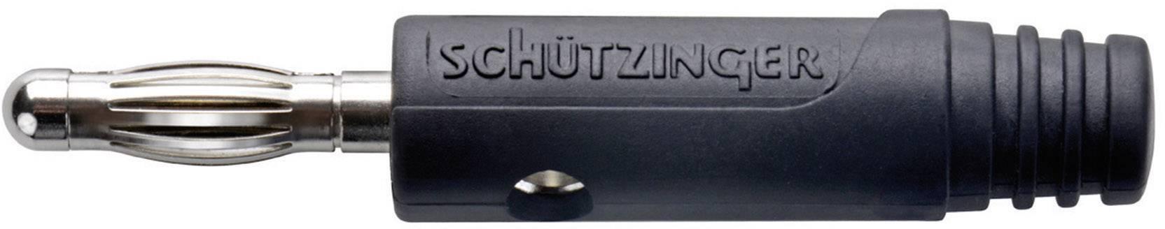Konektor svazkový Schützinger SK 1324/SW, zástrčka rovná, černá