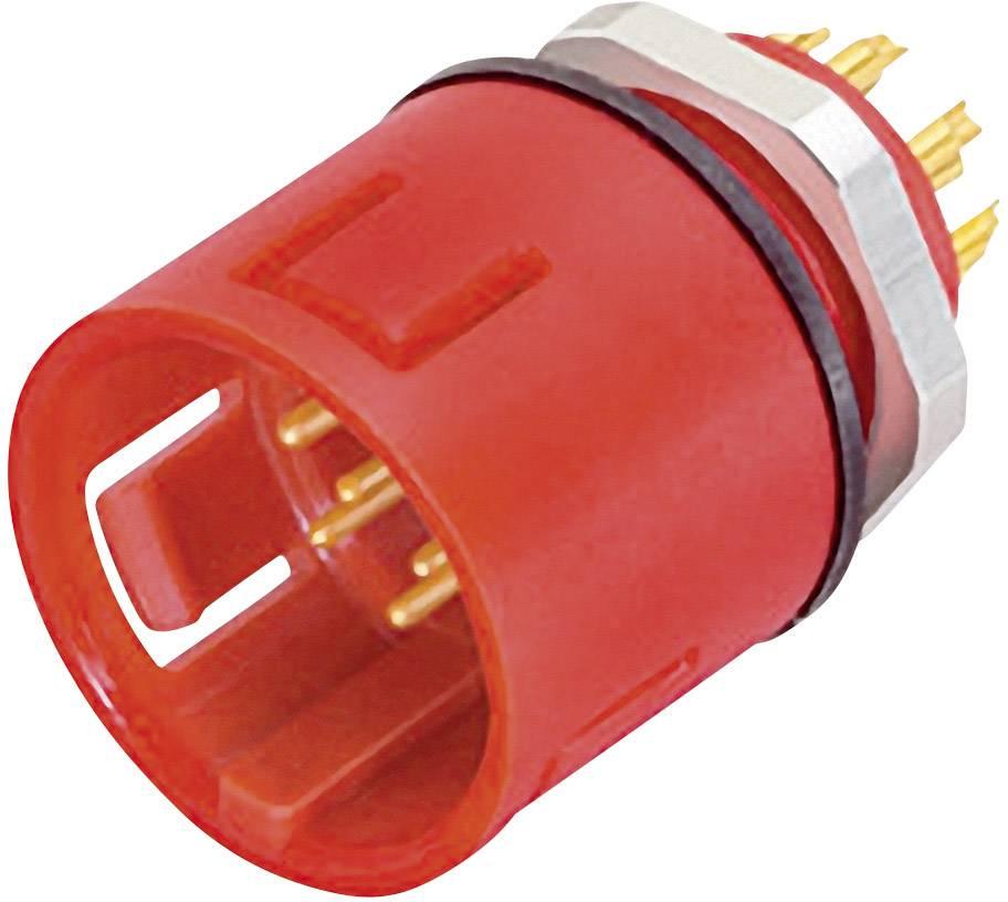 Kulatý konektor barevný Binder 99-9107-50-03, zástrčka vestavná, 3pól., 7 A, IP67