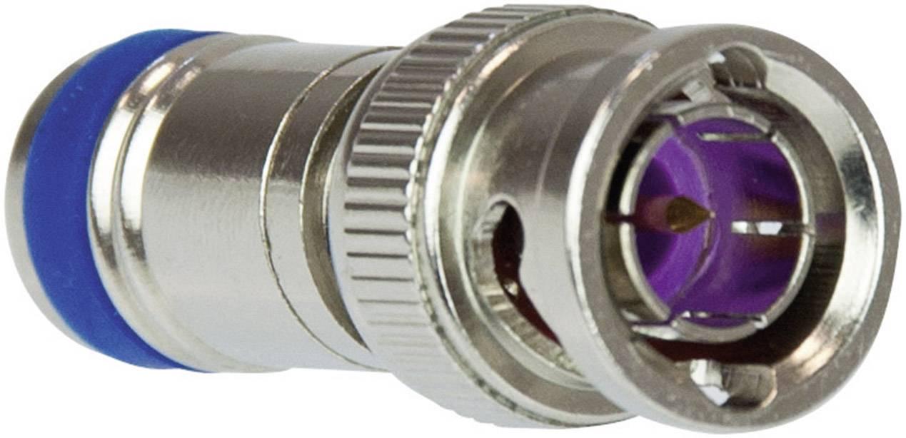 BNC konektor zástrčka, rovná ABUS TVAC40660, 75 Ohm, 1 ks