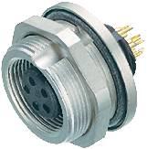 Guľatý konektor submin. Binder 09-0412-80-04, 4-pól., zásuvka zabudovateľná, IP67
