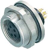 Guľatý konektor submin. Binder 09-0424-80-07, 7-pol., zásuvka zabud., IP67
