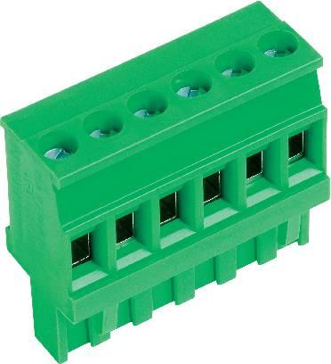 Zásuvkové púzdro na kábel PTR AKZ1100/8-5.08-GRÜN 51100080001D, 40.64 mm, pólů 8, rozteč 5.08 mm, 1 ks
