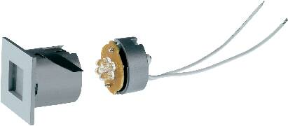 Vstavané svetlo LED SLV Mini Frame LED, biele