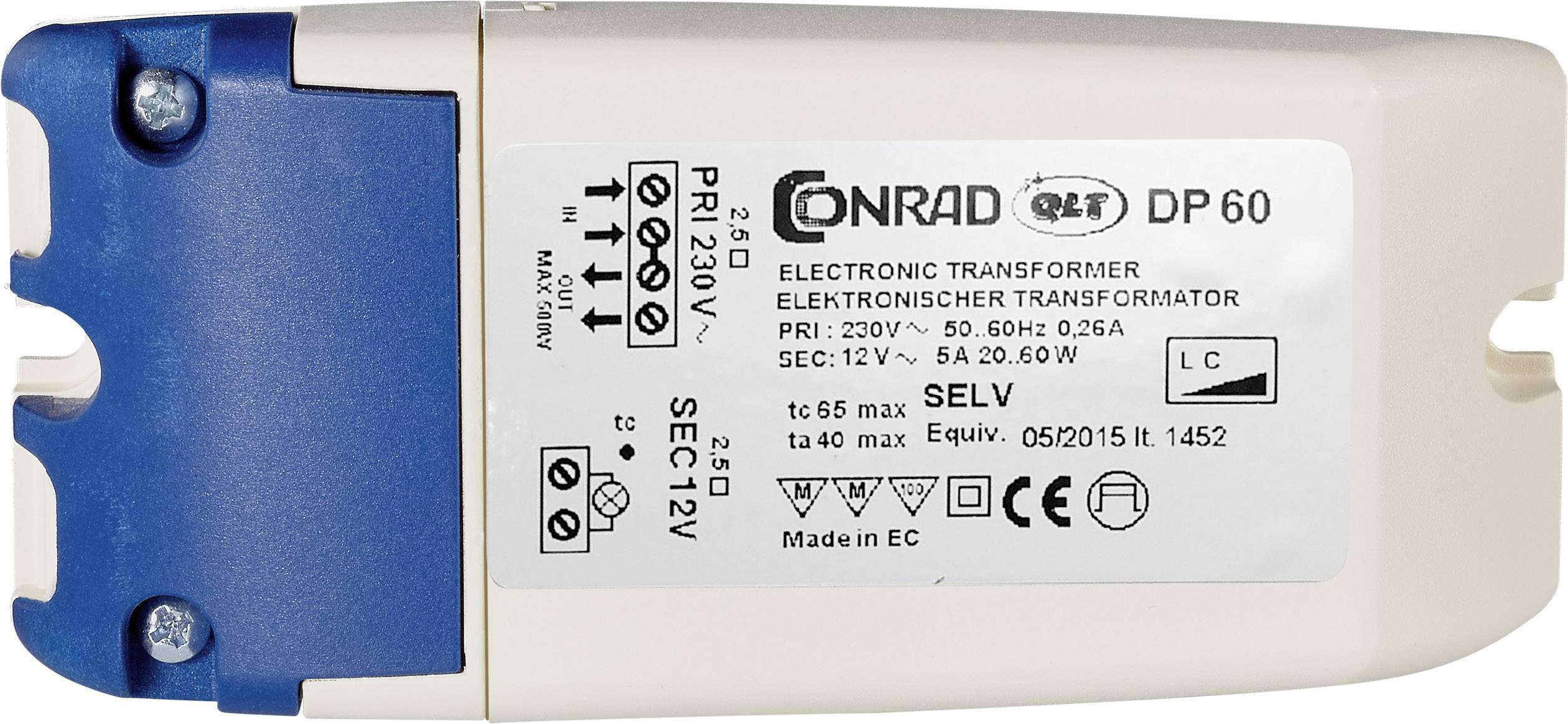 Elektronický transformátor Conrad Maus 10 - 60 VA