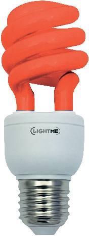 Úsporná žárovka trubková Megaman Economy Color E27, 11W, červená