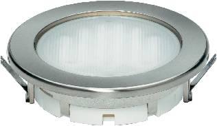 Vstavané úsporné osvetlenie Megaman® Planex GX53, 9 W, nerez