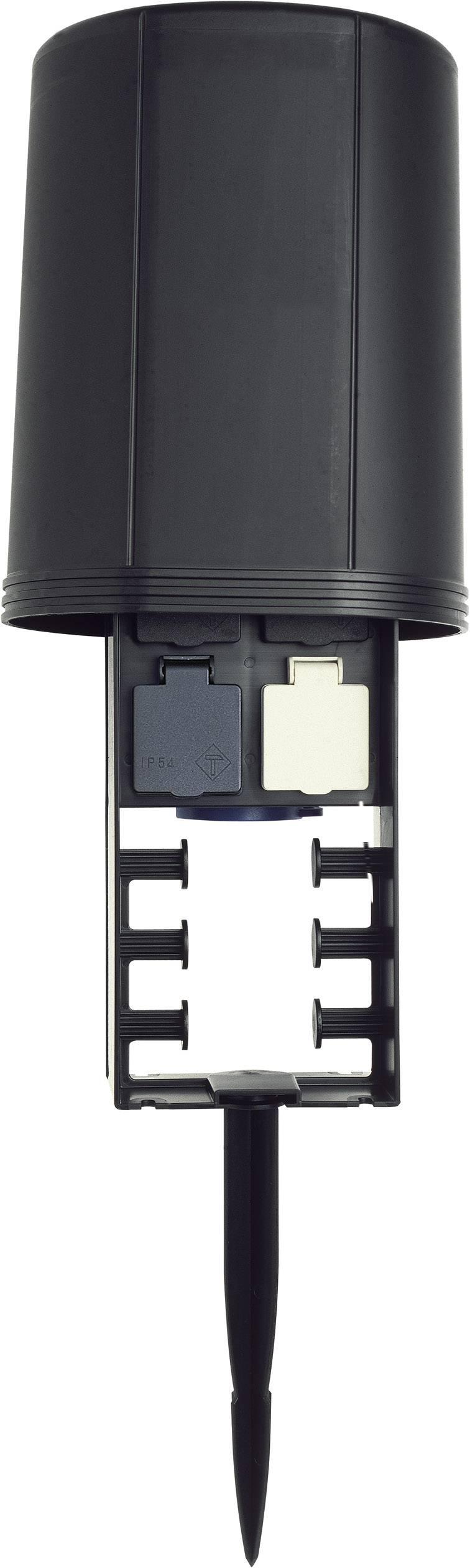 Záhradná zásuvka Oase op spies FM-Master 2 36310, čierna, 4-násobný