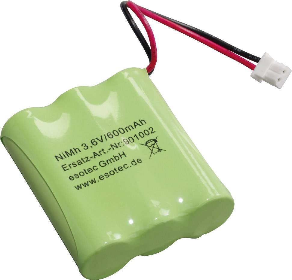 Akupack - sada nabíjacích batérií NiMH 3 mignon (AA) Esotec 901002, 600 mAh, 3.6 V