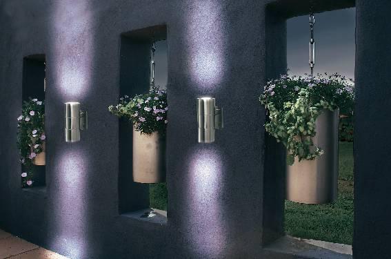 Vonkajšie nástenné svietidlo, GU10, max. 2x 35 W