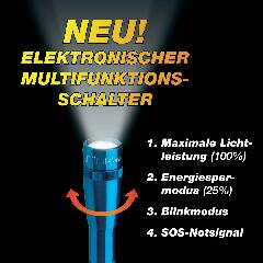 Vreckové LED svietidlo Mag-Lite LED Mini 2 AA Multimode, modré