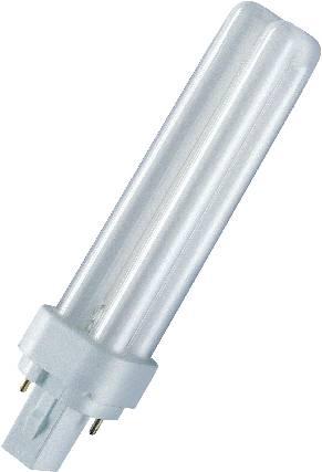 Úsporná žiarivka Osram, 13 W, G24d-1, 140.5 mm, teplá biela