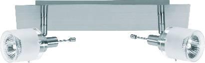 Bodové svietidlo Nice Price, 2x 50 W, 230 V, nikel