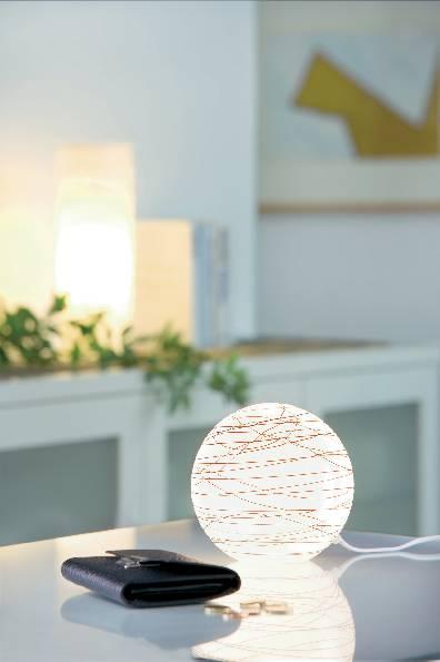 Úsporná stolní lampa Paulmann Living Giba, E14, 25 W