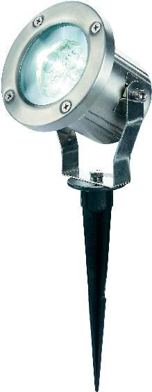 Záhradný reflektor SLV Nautilus LED 304 S, teplá biela