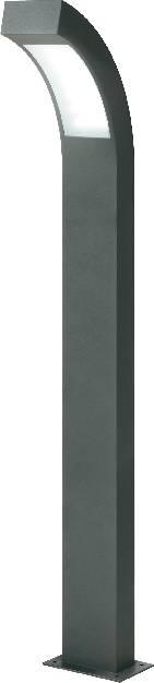 LEDvonkajšiastojaca lampa Esotec HighLine 105194, 4.5 W, denné svetlo, 100 cm, antracitová