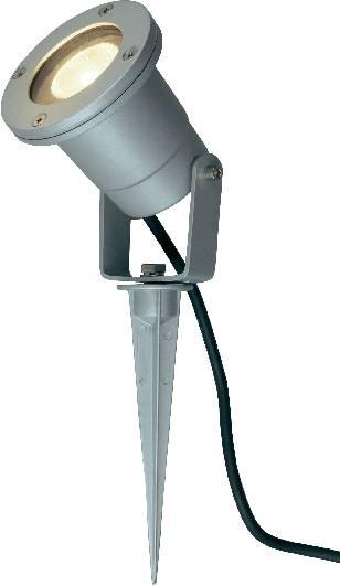 Vonkajšie zapichovacie svietidlo SLV Nautilus Spike, strieborné