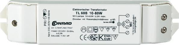 Elektronický transformátor 12V, 60VA