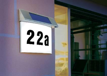 Solárne osvetlenie domového čísla Vision