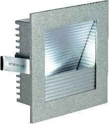 LED vstavané svetlo SLV Frame Curve 111292, 1 W, teplá biela, strieborná