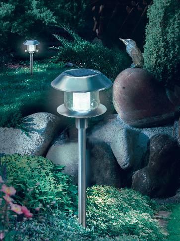 Solární zahradní LED svítidlo Esotec Swing, 102070, nerez, zapichovací