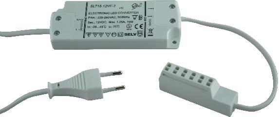 Napájací zdroj pre LED SLT15-12V, 1 do 15 W, 0.08 - 1.25 A, 12 V/DC