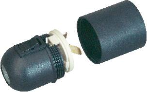 Objímka s kolískovým vypínačom, čierna