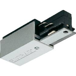 Vysokonapěť. komponent lištových systémů - napájení Eutrac 145514, stříbrná