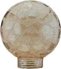 Tienidlo pre žiarovku, sklenené, guľatý tvar mini, zlaté