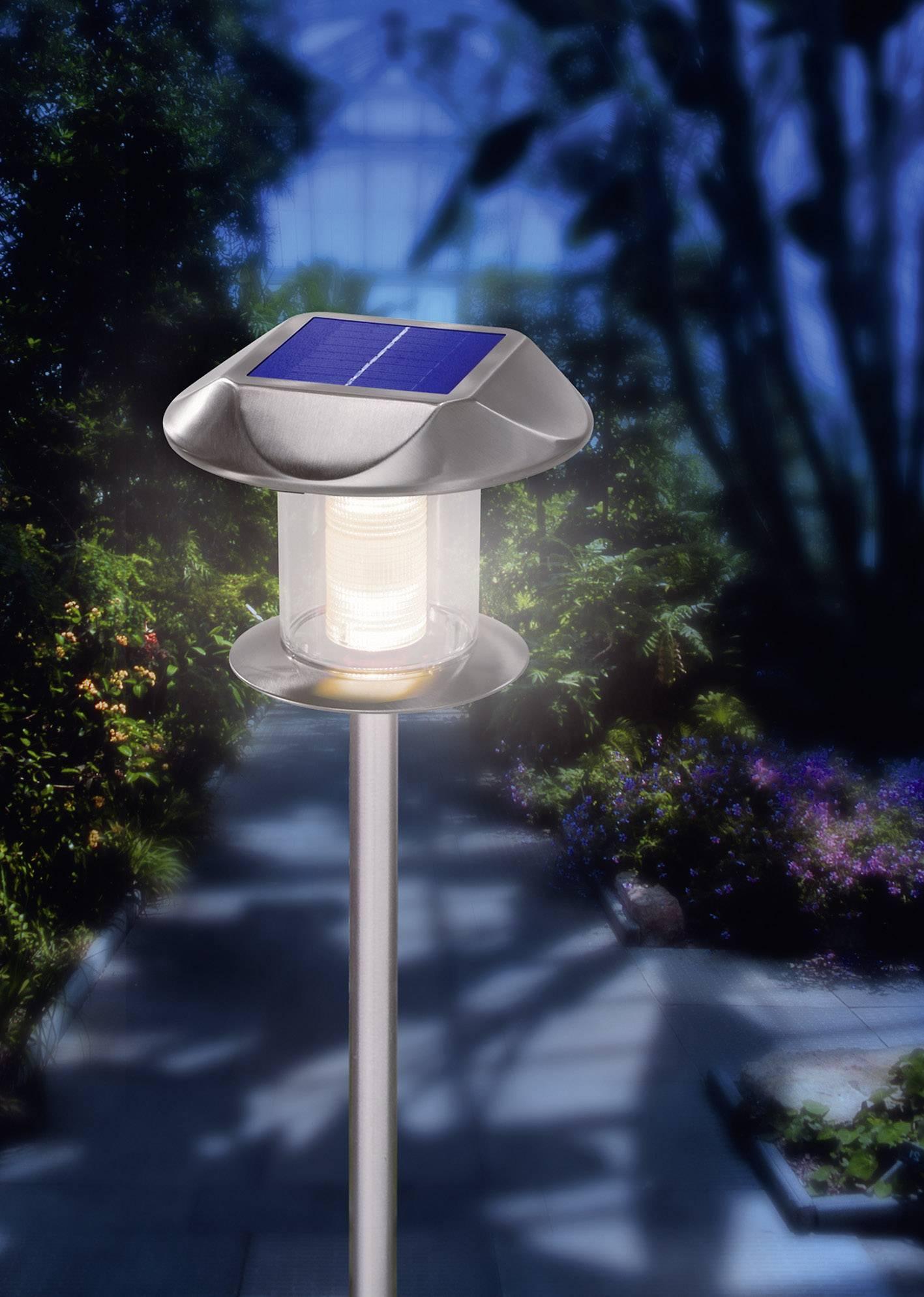 Solárne nerezové LED svietidlo Esotec Sunny