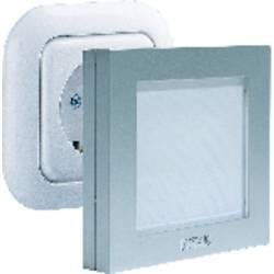 Zásuvkové LED nočné svetlo m-e modern-electronics 1 W, Farba svetla biela, strieborná
