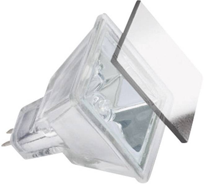 Halogenová žárovka Paulmann, 12 V, 20 W, GU5.3, čtvercová, stmívatelná, stříbrná, 1 ks