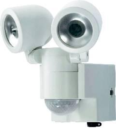 Solárny LED reflektor s PIR čidlom GEV Duo, biely