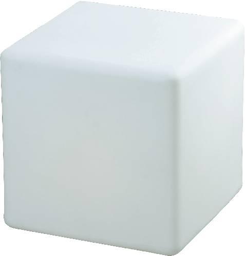 Úsporná žárovka kostka, zahradní osvětlení SLV DETT 227211, E27, 24 W, bílá