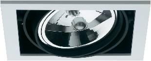 Halogenové vestavné světlo Downlight Croux AR111, 1x 100 W, G5.3, černá/bílá