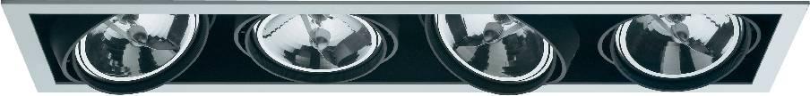 Halogénové vstavané svetlo Downlight Croux, 4x 100 W
