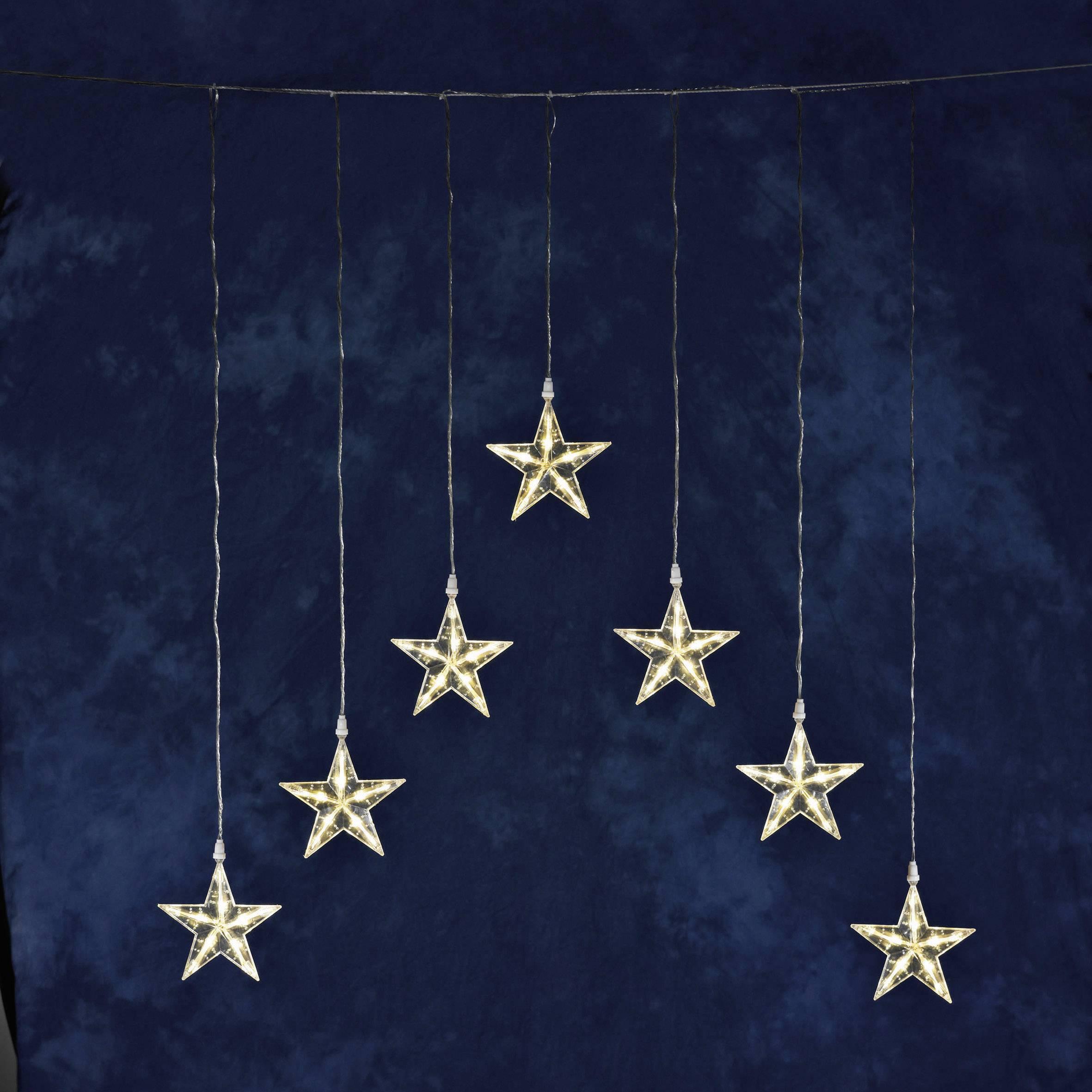Vonkajšie svetelný záves - hviezdička Konstsmide 1243-103 35 x LED, 24 V, teplá biela