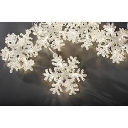 Vnútorné svetelný záves - snehové vločky Konstsmide 4436-103 30 x LED , (š x v) 400 cm x 15 cm, 24 V