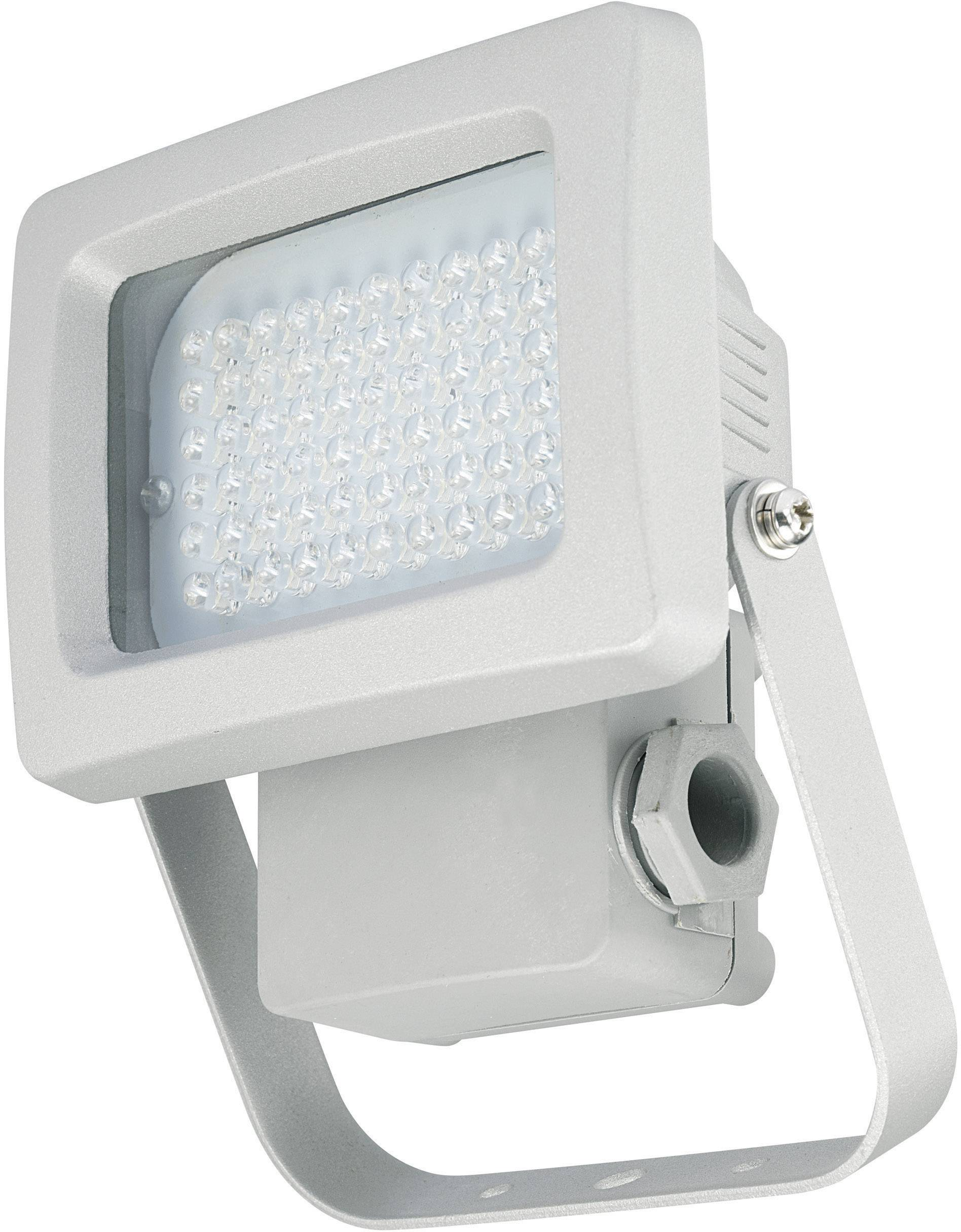 Vonkajšie LED reflektor, 3.8 W, strieborný