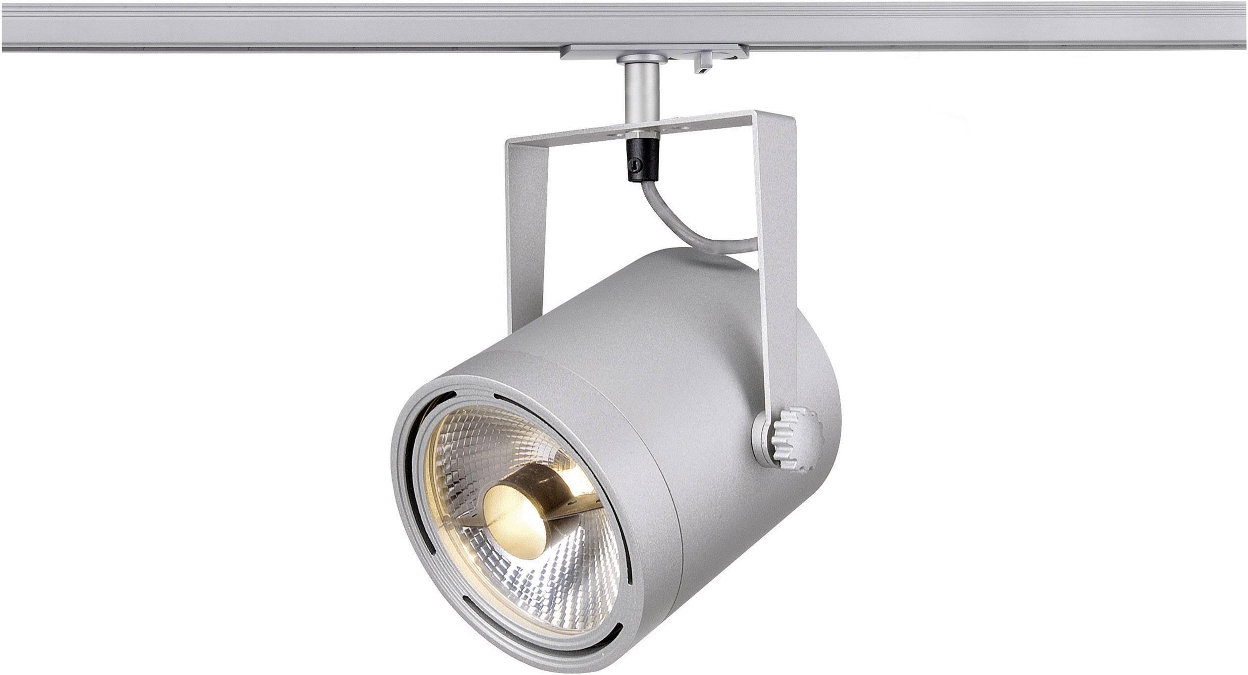 Svietidlo pre lištové systémy (230 V) - SLV EURO SPOT, GU10, 1-fázové, 75 W, strieborná