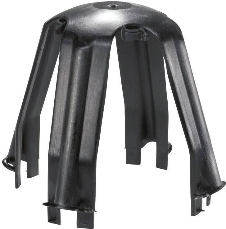 Distančný držiak HellermannTyton SPOTCLIP PA66 BK, sada 3 ks, čierna