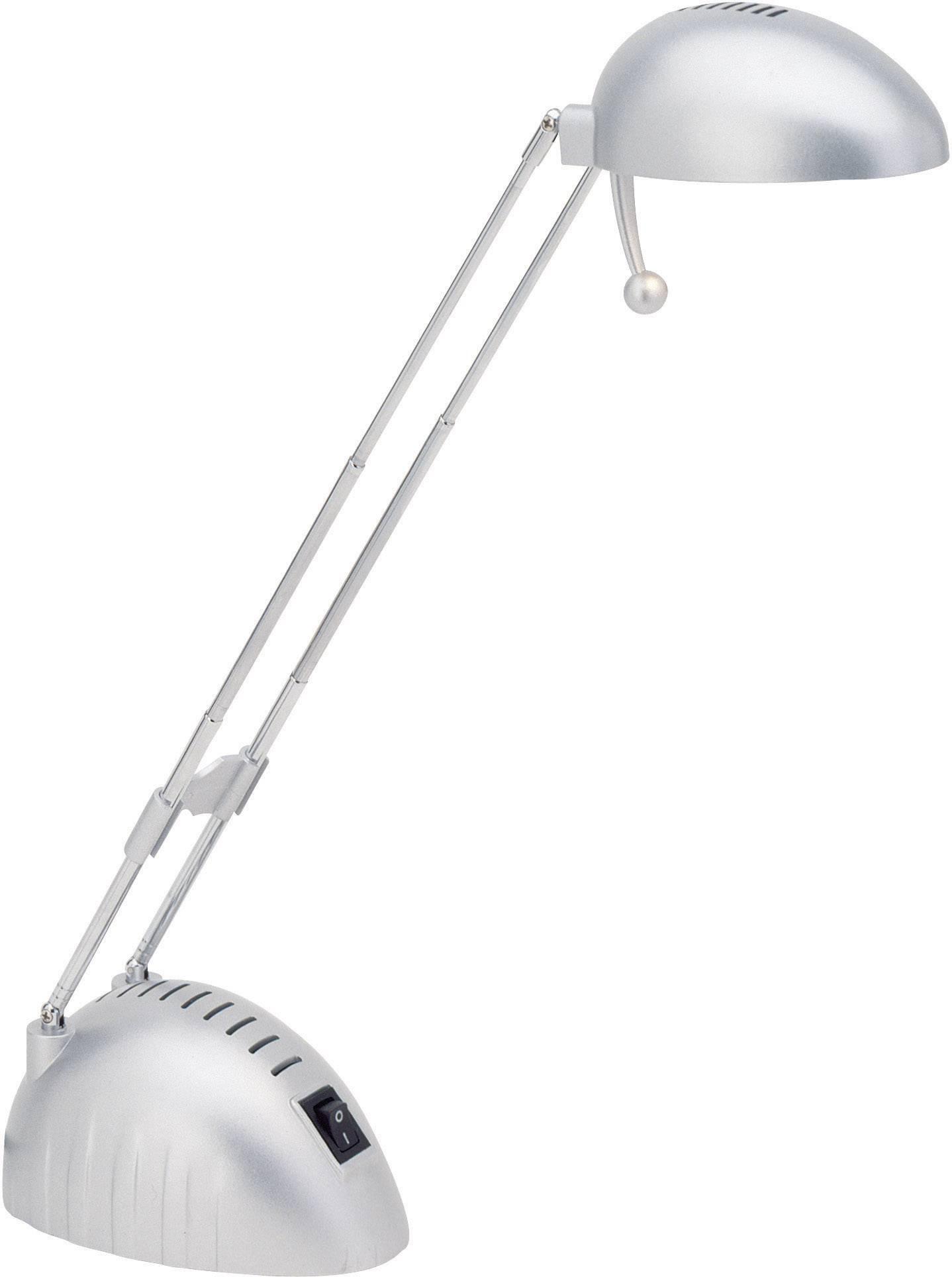 Halogénová stolová lampička Brilliant Paddy, G4, 20 W, titán