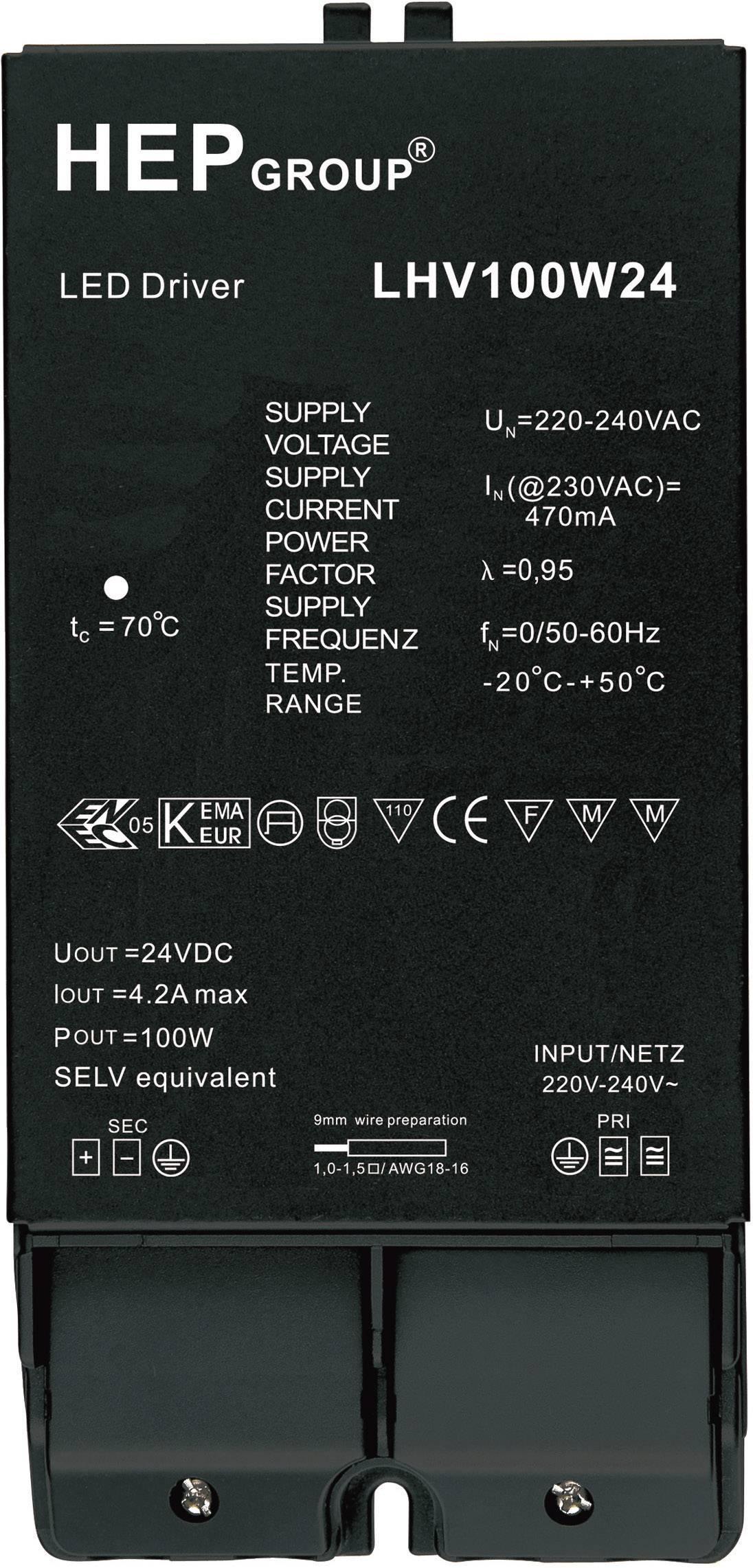 Napájací zdroj pre LED 0 - 4.16 A, 24 V/DC
