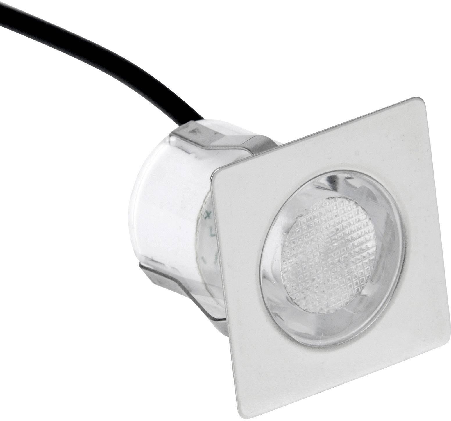 LED vstavané svetlo Brilliant Asta 30 G02893/82, 1.5 W, chladná biela, sada 10 ks, nerezová oceľ