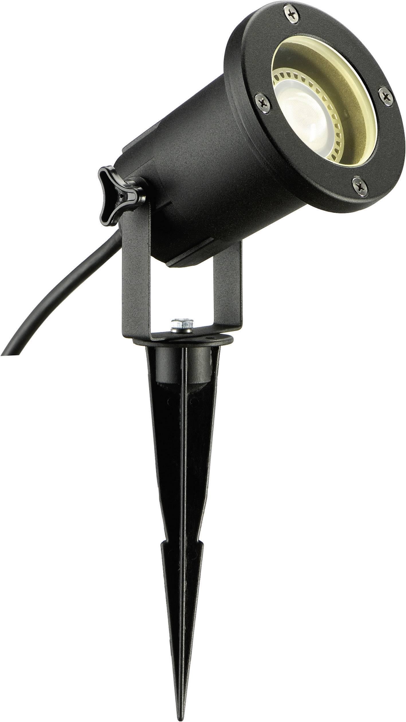 Vonkajšie zapichovacie svietidlo SLV Nautilus Spike ESL, čierne