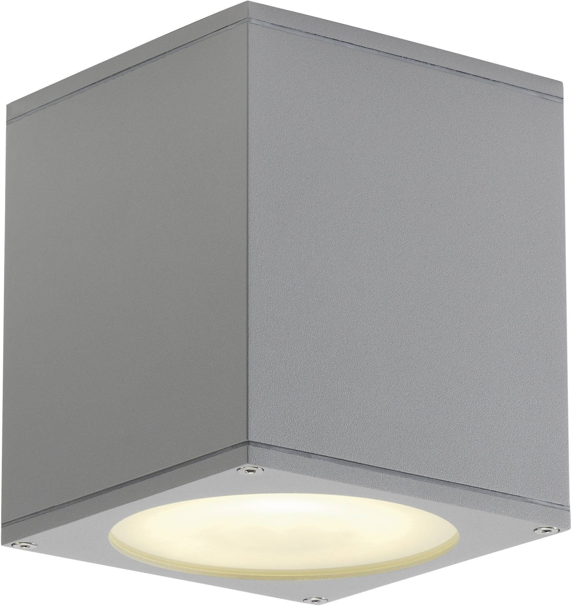 Venkovní stropní osvětlení halogenová žárovka, LED GU10 75 W SLV Big Theo 229554 stříbrnošedá