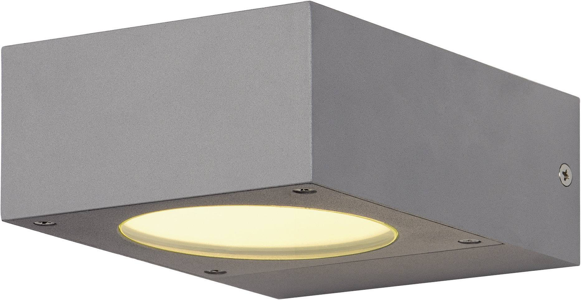 Venkovní nástěnné osvětlení SLV Quadrasyl WL15 232284, GX53, 9 W, hliník, stříbrnošedá