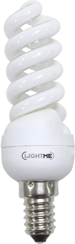 Úsporná žiarovka špirálovitá LightMe Full Spiral E14, 11 W, teplá biela