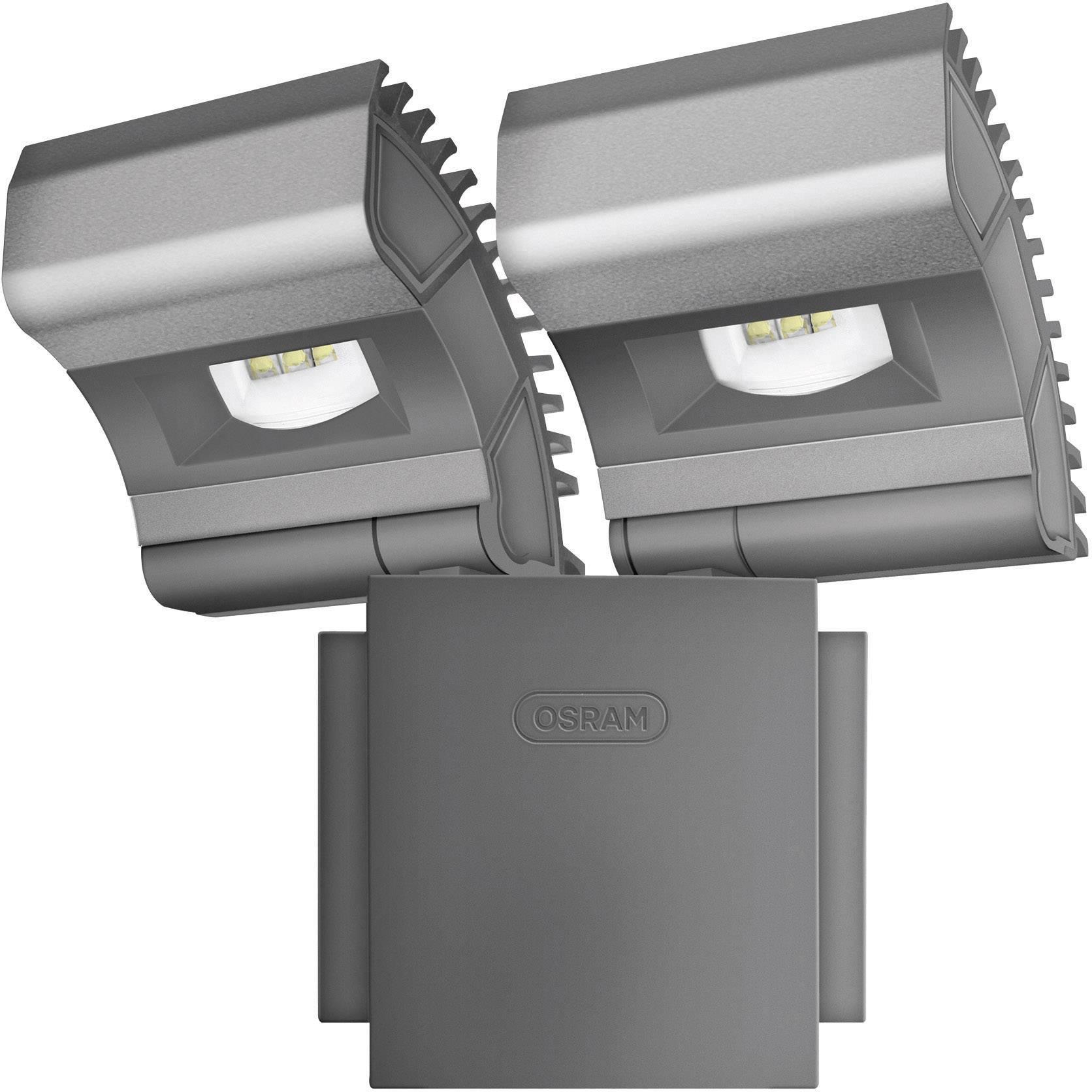 Dvojitý LED reflektor Osram Noxlite, 2x 8 W, čierny